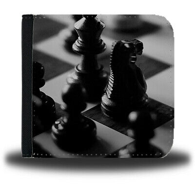 Chess Game Leather Mens Wallet Piece Pawn King Queen Gift Present Set Kids D147