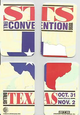 Texas STS Convention 4 Card Puzzle Phone Card Set - 1996