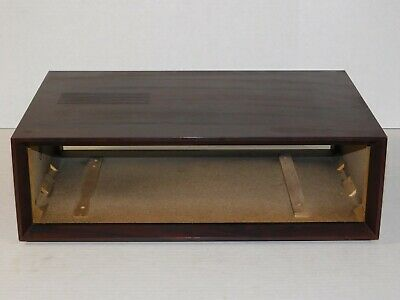 Vintage Akai Tape Deck Stereo System Cassette Player Recorder Wood Case Cabinet