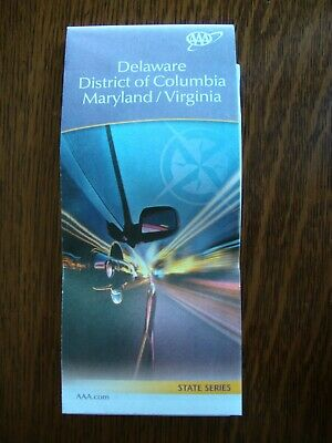 AAA DELAWARE DE MARYLAND MD VIRGINIA VA STATE Travel Road Map Vacation 2020