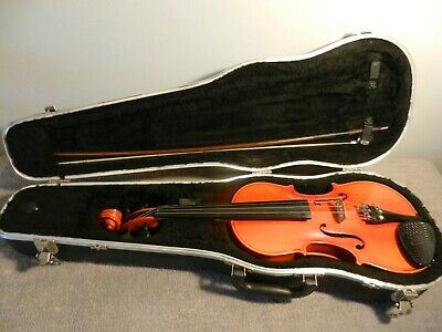 Becker 3/4 Violin Model #1000 with Bow Rosin and Hard Shell Case Made in Romania