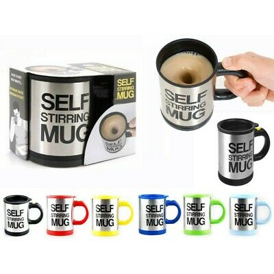 Tazza Automescolante Self Stirring Mug Idea Regalo Caffe Latte Per Cappuccino Ds
