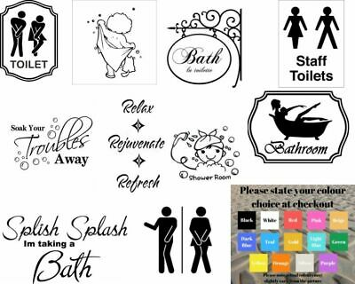 Wall art stickers for bathroom toilet Home decor, quality vinyl decal quotes