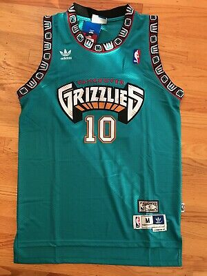 Mike Bibby #10 Hardwood Throwbacks Vancouver Grizzlies Teal Men's Jersey