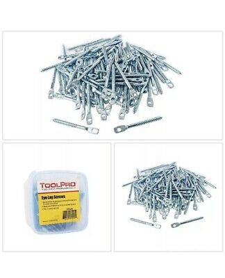 Eye Lag Screws 1/4 x 3 in. Carbon Steel Wood Ceiling Joints Hanger Wire 100 Pack