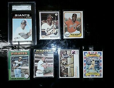 Willie McCovey and Willie Stargell 7x Card Lot