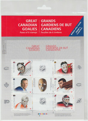 Canada - #2866 Great Canadian Goalies from the NHL -  Stamp Pane - MNH