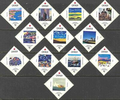 1992 Canada #1420-31 Cpl. Mint Never Hinged Set of 12 Cda. Day Provincial Scenes
