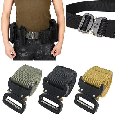 Outdoor Army Military Tactical Camo Belt Mens Safety Nylon Male Combat Waistband