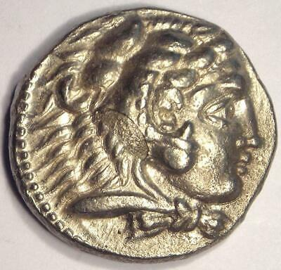 Alexander the Great III AR Tetradrachm Coin - 336-323 BC - Nice AU Condition!