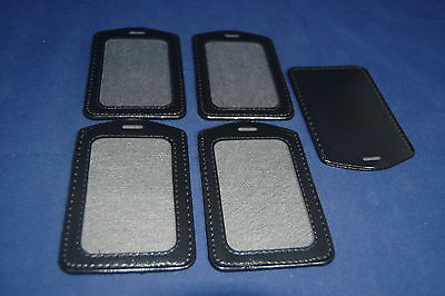5 Pcs Vertical Style Name Tag ID Badge Card Holders Black Clear High quality