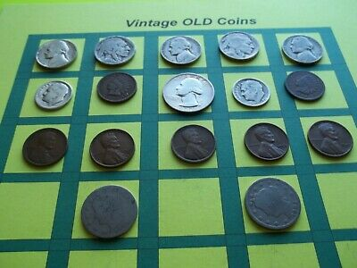 Estate Lot of Old Coins 50 to 125 Years Old with Some Silver  16 Coins  (OC7)