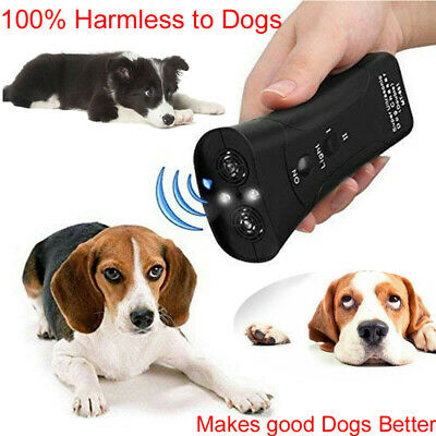Ultrasonic Anti Dog Barking  Trainer LED Light Gentle Chaser Petgentle Sonic Pet