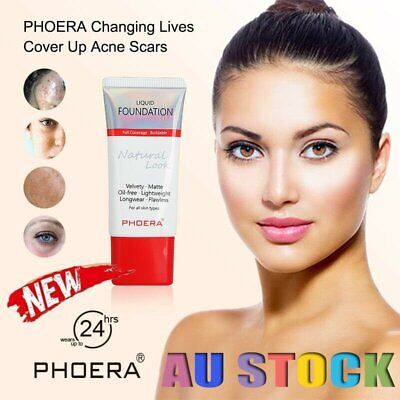 PHOERA Liquid Foundation Full Coverage Velvety Matte flawless lasting Makeup DM