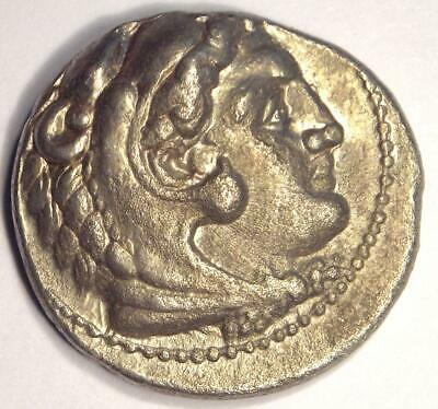 Alexander the Great III AR Tetradrachm Coin - 336-323 BC - Nice XF Condition!