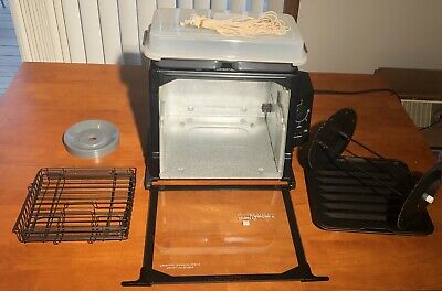 Nice Used Once Black Ronco Compact Showtime Rotisserie & BBQ Oven Model 3000
