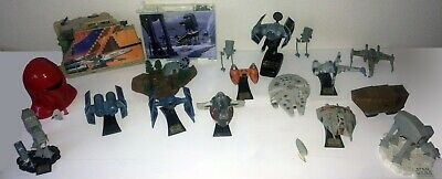 Lot of 19 Star Wars Micro Machines (Action Fleet, etc) 27 figures, 15 A.F. ships