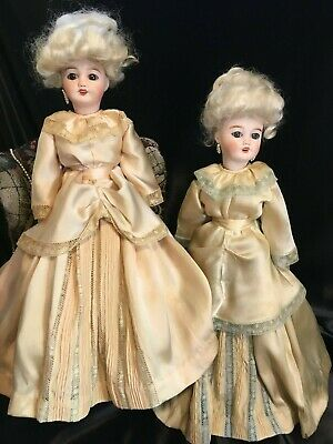 "Matching Pair of 15"" French Limoges Dolls ~ Cherie 9 ~"