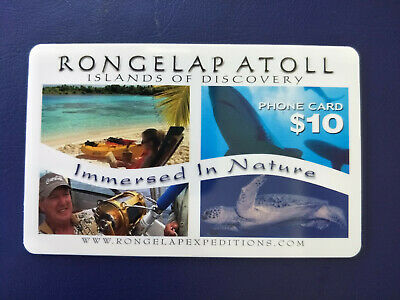 Dummy/Specimen $10 Marshall Islands Rongelap Atoll Phonecard No Card Number