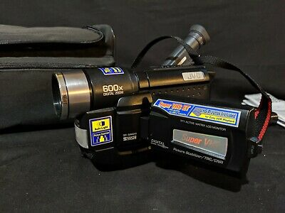JVC GR-SXM240 Compact Super VHS 600X Camcorder with Manual and JVC bag - works
