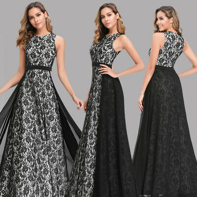 Ever-Pretty US A-Line Formal Club Gowns Black V-neck Evening Party Dress 07783