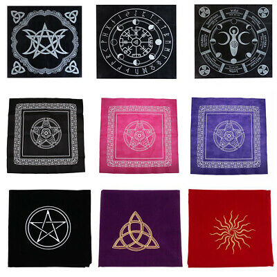 Altar Tarot Tablecloth Table Cloth Divination Cards Square Tapestry 90x90cm
