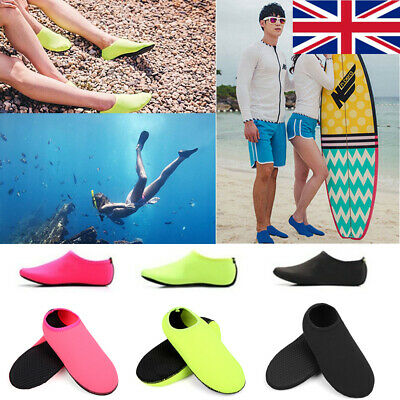 Women Men Water Shoes Aqua Socks Diving Sock Wetsuit Non-slip Swim Beach Sea UK