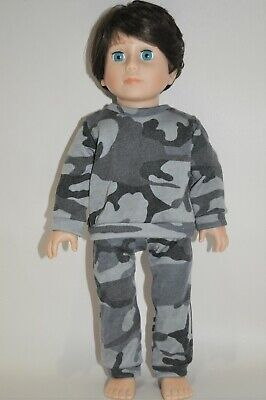 """American Girl Doll Our Generation Journey 18"""" Dolls Boy Clothes Grey Tracksuit"""