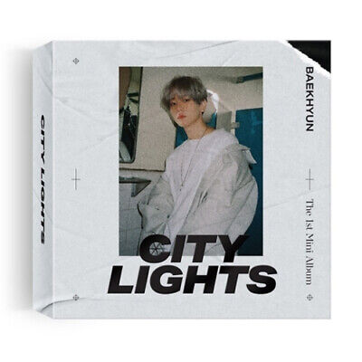 EXO BAEKHYUN [CITY LIGHTS] 1st Mini Kihno Album Kit+Foto Buch+Karte K-POP SEALED