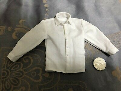 1/6 Scale Male White Suit Shirt Clothing Fit 12'' Action Figure Body Gifts Model