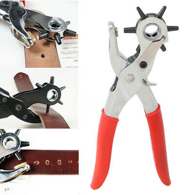 Leather Belt Hole Punch Household leathercraft Plier Eyelet Puncher Revolve