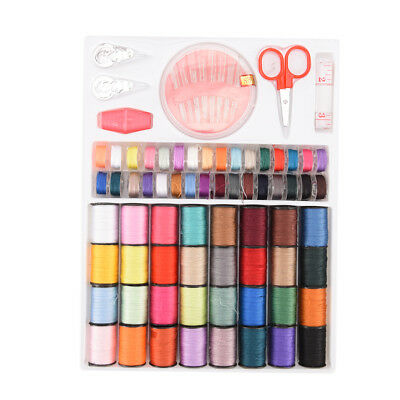 64 spools assorted colors sewing threads needles set sewing tools accessory  ZW