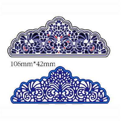 2Pcs Hollow Lace Metal Cutting Dies For DIY Scrapbooking Album Paper ZW