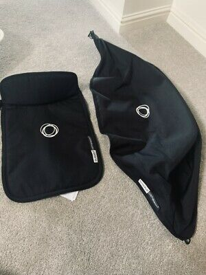 bugaboo cameleon 3 hood and apron, black, non extendable Fits Cam 1 & 2