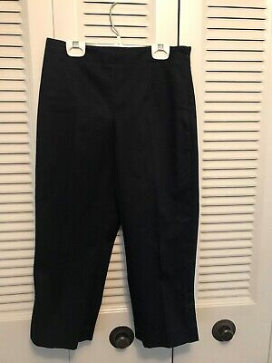 Liz Claiborne Have to Have Michaela Stretch Black Capri Cropped Pants, Size 2 P
