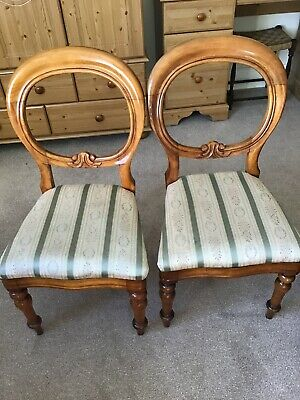 Pair of antique regency chairs. Very Good Condition.