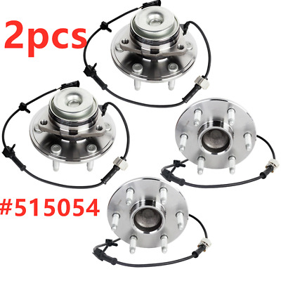 2WD Front Wheel Hub & Bearing Assembly For Chevy GMC Silverado Sierra 515054 x 2