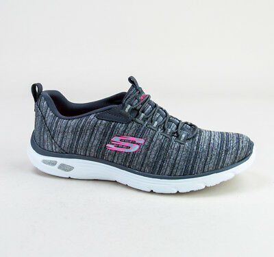 Skechers Women/'s Empire D/'Lux Pull On Shoes Grey//Pink #12820 e11d a NEW