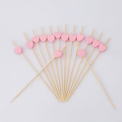 100 Bamboo Cocktail Sticks Picks Cupcake Sandwich Party Food Decor BT3