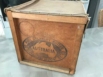 Old Antique Vintage Qld Australian Jacaranda Butter Box Wooden Storage Timber
