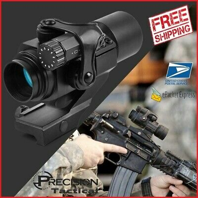 Holographic Red Dot Tactical Sight M2 Hunting Optic Rifle Scope w 20mm 11mm Rail