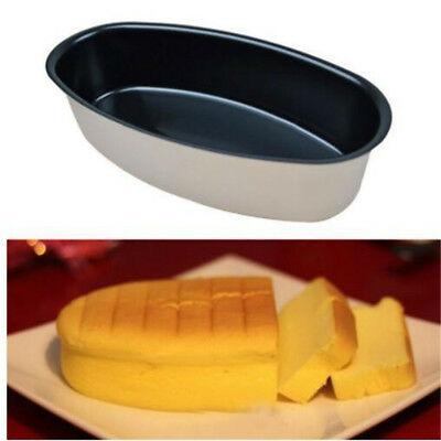 Fine Oval Shaped Cheese Cake Mold Non-stick Home Kitchen Baking Bakeware BT3
