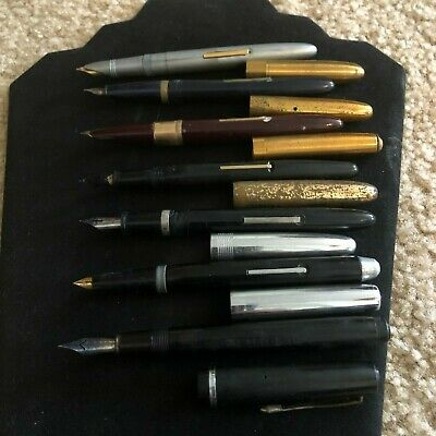 Vintage Fountain Pens (Lot of 7) 3-Wearever, Eversharp, Universal, Pilot,1-Misc.