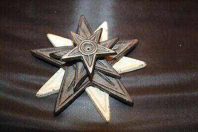 Vintage Cast Iron Star Paperweight - 4 Stacked Stars