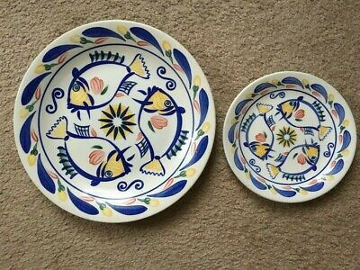 Johnson Brothers AQUABATIC 2x Dinner Plates & 3x Side Plates ( Pre Owned )