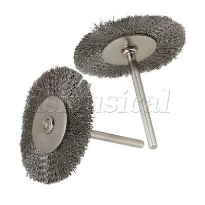 5 Pieces Silver 38mm Wheel Diameter 43mm Length Stainless Wire Brush Drill End