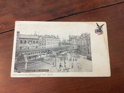 Postcard Private Mailing Card Elevated Train Near City Hall Brooklyn New York