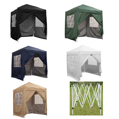 Garden 2x2m Waterproof Pop Up Gazebo Marquee Canopy Awning Party Tent 4 Sides