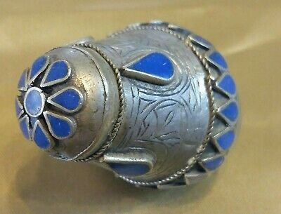 Silver Afghan Kuchi Tower Ring Ethnic Tribal Jewelry Boho Gypsy Ring Size 6.5 US