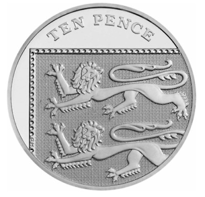 10p Ten Pence Coin Royal Shield, Britannia Lion 2014